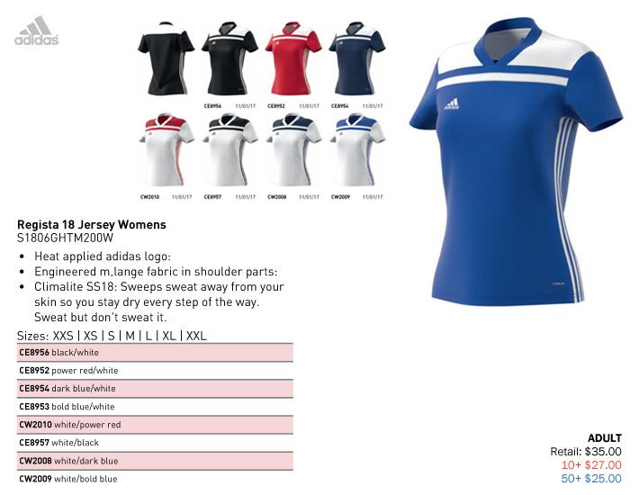 0a8b85f9a Regista 18 Jersey Starting at $25.00, Adidas