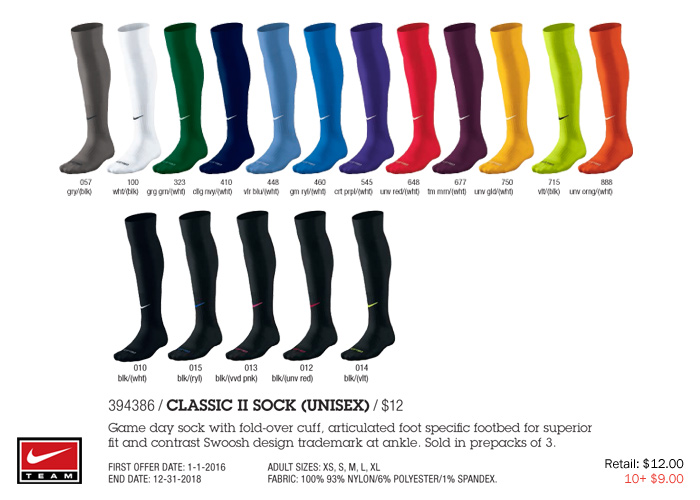 Classic II Sock (Unisex) From  9.00 aa90c1364