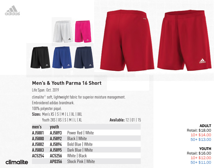 adidas shorts youth xl