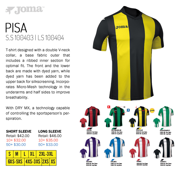 fd9e90f9d Pisa Jersey Starting at $30.00, Joma Galaxy Jersey