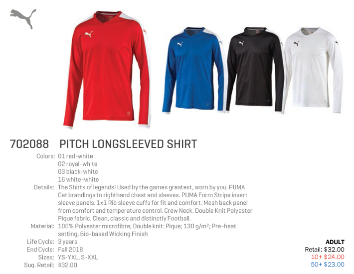 0f01734a59a Pitch Long Sleeve Jersey Starting at  23.00