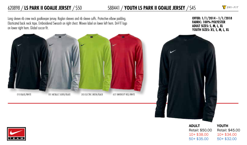 afdd03fdb LS Park II GK Jersey Youth  From  32.00. Adult  From  35.00
