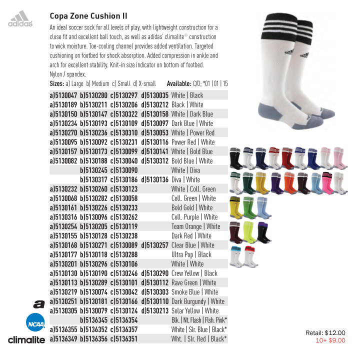 8e525b0f26e7 Copa Zone Cushion II From  9.0. Adidas Elite Traxion Soccer Sock