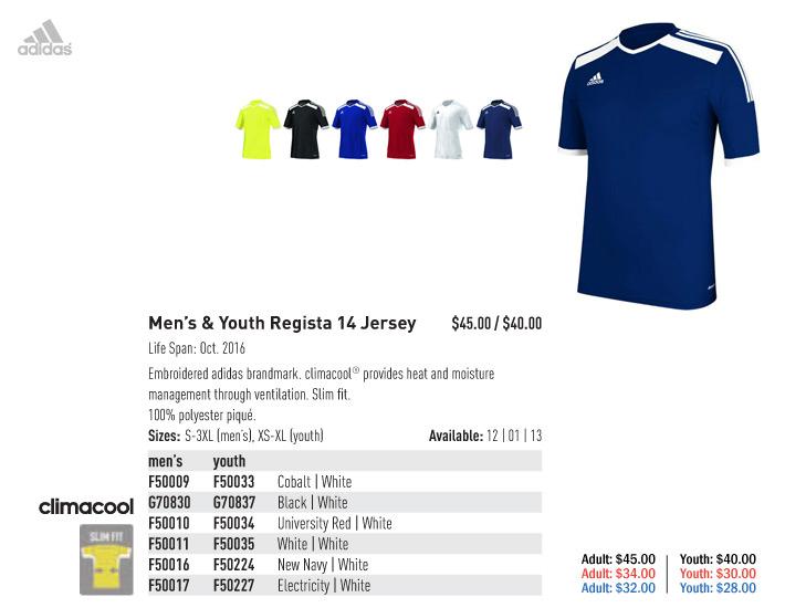 adidas 2015 Men's & Youth Soccer Uniforms | Soccer Locker