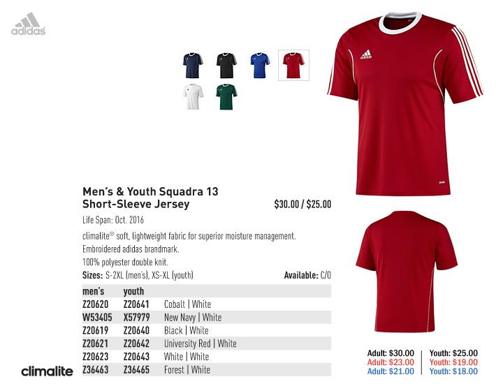 531de7bc9b4a adidas 2015 Men s   Youth Soccer Uniforms